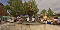 Mainstrasse Village Goose Girl Fountain
