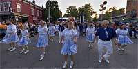 German dancers in Mainstrasse Village during Maifest.