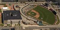 Over Cooper Park in downtown Dayton, Ohio.