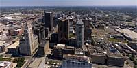360 degree aerial panorama of Columbus, Ohio