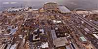 360 degree panorama from a helicopter over downtown Biloxi after Hurricane Katrina.