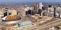 360 degree aerial panorama near the New Orleans Superdome after Katrina and Rita.