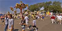 The Midway at the 2005 MN State Fair.