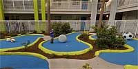 Mini-golf at the Nick Hotel