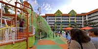 Mass sliming at the Nick Hotel.