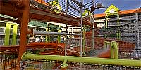 The water slide at the Nick Hotel.
