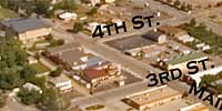 360 degree aerial panorama over Douglas and Junction in Sturgis, SD.