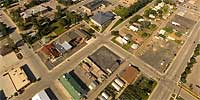 360 degree aerial panorama over Lazelle and 3rd in Sturgis, SD.