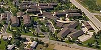 360 degree aerial panorama of Westhills Village Retirement Community.