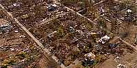 360 degree aerial panorama over  Waveland after Hurricane Katrina.